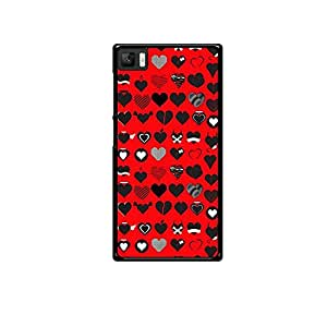 Vibhar printed case back cover for Xiaomi Mi 3 HeartEmotions