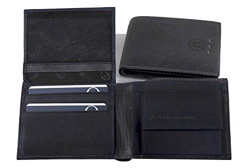 Mini portafoglio uomo SERGIO TACCHINI blu pelle con portamonete e patta A5248