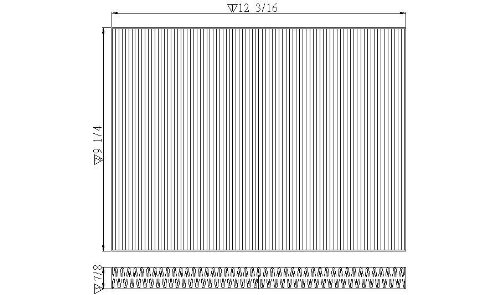 TYC Cabin Air Filter for CHRYSLER Pacifica (2004-2007), CHRYSLER Town and Country (2001-2007); DODGE Caravan (2001-2007); PLYMOUTH Voyager (2001-2003) A8062C