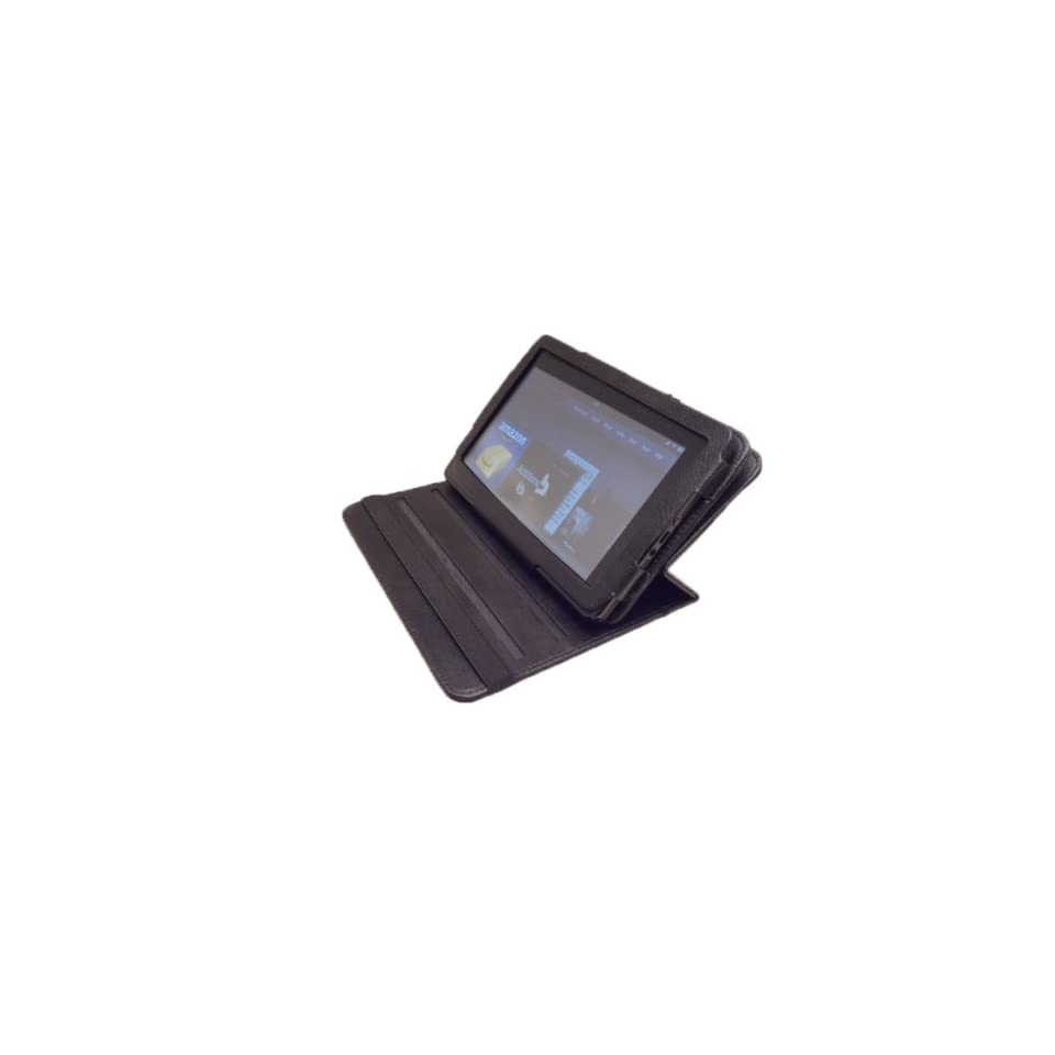 Kindle Fire Folio Leather 360 Case Cover Fits  Kindle FIRE Tablet with Stand (Black)