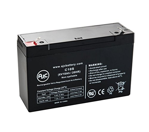 Batterie Sonnenschein 7190523 6V 10Ah Acide scellé de plomb - Ce produit est un article de remplacement de la marque AJC®