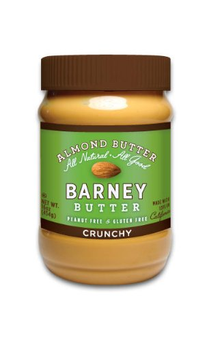Barney Butter Crunchy Almond Butter, 16-Ounce Jars (Pack of 3)