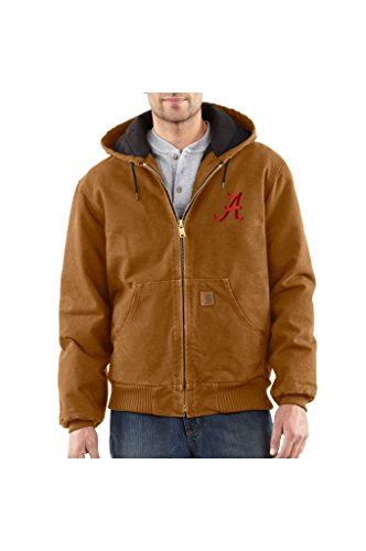 Ncaa Alabama Crimson Tide Men'S Quilted Flannel Lined Sandstone Active Jacket, Carhartt Brown, X-Large front-270816
