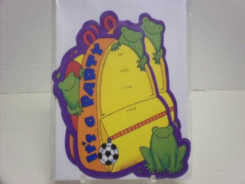 16pc Animals Party Invitations - Cards & Envelopes