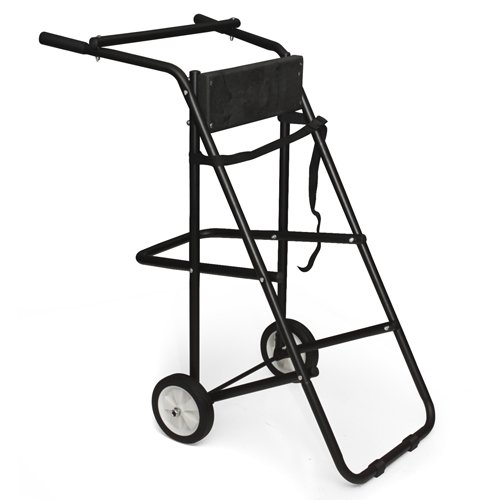130 Lb Outboard Boat Trolling Motor Stand Carrier Cart Dolly Storage