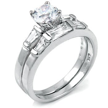 wedding sets sterling silver cz wedding sets rings