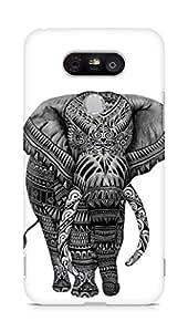 Amez designer printed 3d premium high quality back case cover for LG G5 (lets go home Elephant)
