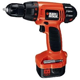 Black & Decker CD9602K 9.6-Volt Ni-Cad 3/8-Inch Cordless Drill/Driver Kit