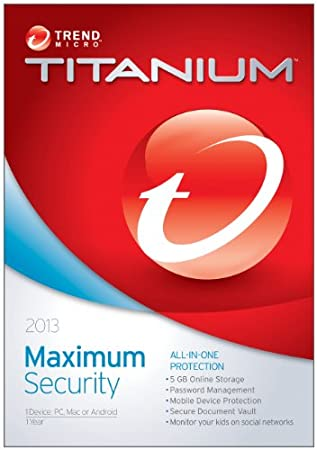 Trend Micro Titanium Maximum Security 2013 1User
