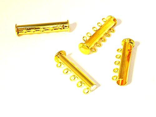 1 Magnetverschluss f. 5 Reihige Kette, 30x10mm, gold, Z193/5