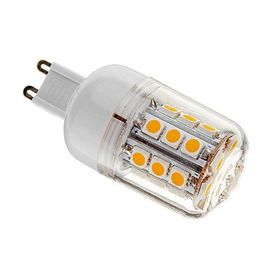 Dimmable G9 4W 30Xsmd 5050 400Lm 3000-3500K Warm White Light Led Corn Bulb(Ac 220-240V)