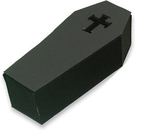 Creative Converting Halloween Coffin Silverware Caddy, 3 Lidded Boxes per Package