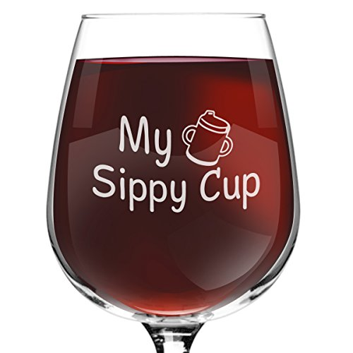 My Sippy Cup Funny Novelty Wine Glass 12.75 oz.
