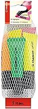 Comprar STABILO NEON - Marcador fluorescente con cuerpo semiblando - Malla con 5 colores