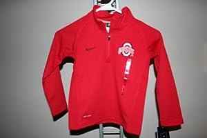 Nike Ohio State Buckeyes Kids Dri-Fit Performance 1 4-Zip Shirt - Boys 4-7 by Dri-FIT