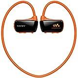 Sony NWZ-W273S Lettore Musicale Digitale Walkman Wireless, Memoria interna 4GB, Resistente all'acqua, Arancione
