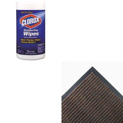 KITCOX01761EACWNNR0046BR - Value Kit - Crown NR46 BRO Needle-Rib Indoor Wiper/Scraper Mat 4' x 6', Brown (CWNNR0046BR) and Clorox Disinfecting Wipes (COX01761EA)