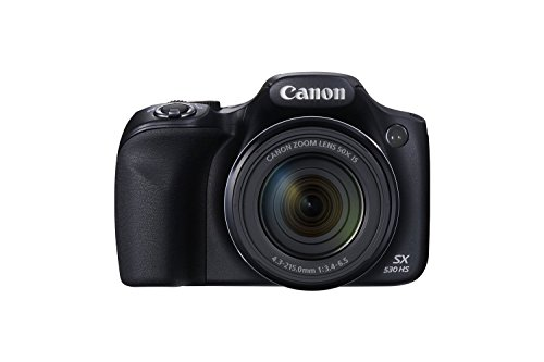 Canon PowerShot SX530 HS 16.0 MP CMOS Digital Camera with 50x Optical Image Stabilized Zoom (24-1200mm) and 3-Inch LCD HD 1080p Video (Black) (Certified Refurbished) (Canon Powershot Sx 510 compare prices)
