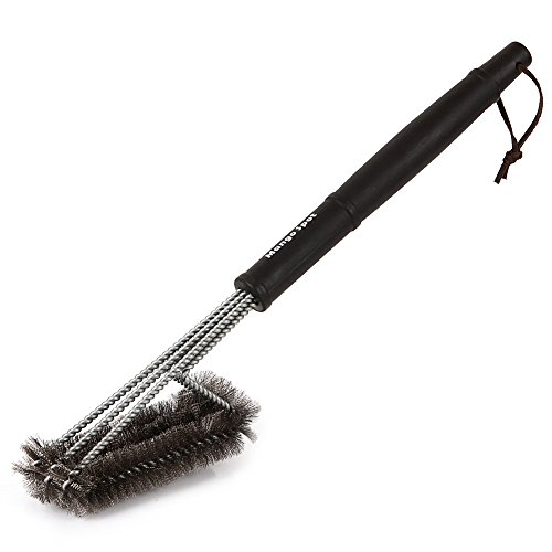 Mango Spot Grill Brush with 3 Super Thick Brushes,long Handle and Stainless Steel Bristles ,Wire Cleaner Accessory for Charcoal, Weber, Gas, Electric, Porcelain, Infrared Barbecue