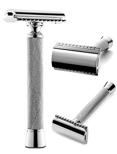 Perfecto Double Edge Long Handled Safety Razor -Now On Sale! Engineered to Deliver the Best Shave of Your Life. This Is the Best Shaving Razor. Great Mens Gift!! (Best Safety Razor Blades compare prices)