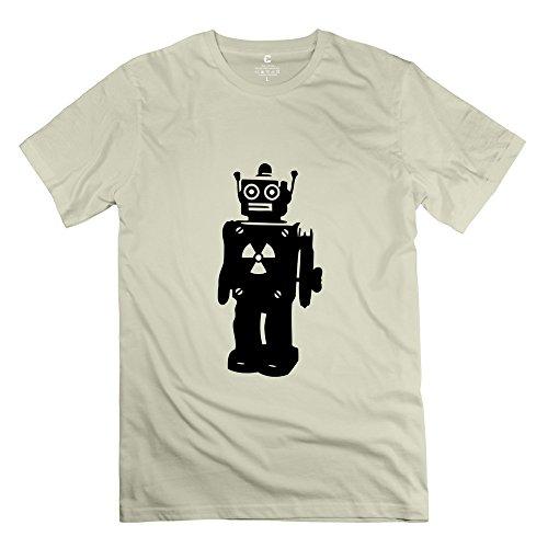 Yongth Men'S Robot Nerd Geek 100% Cotton T-Shirt - Cool Shirts Natural Us Size S