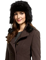 M&S Collection Faux Fur Trapper Hat