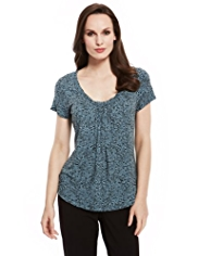 M&S Collection Pleat Front Top with StayNEW™