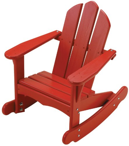 Child Red Rocking Chair ~ Little colorado child s adirondack rocking chair red toys