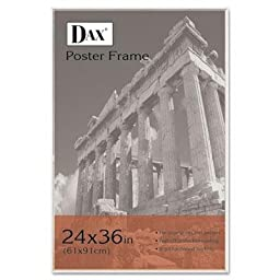 Dax - U-Channel Poster Frame Contemporary Clear Plastic Window 24 X 36 Clear Border \