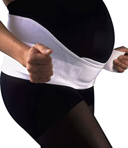 Gabrialla Elastic Maternity Support Belt (Medium Support), Size Medium, White