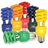 13W Holiday Party Colored Light 6 Pack - Green Black Blue Yellow Orange Red