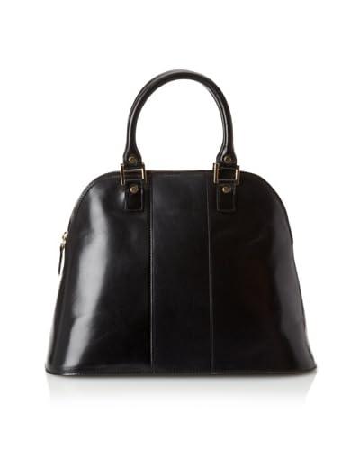 LaLucca Women's Rebekah Leather Satchel  [Brown]