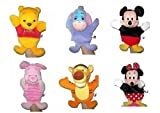 6pc Disney Mickey, Minnie Mouse, Winnie the Pooh and Friends Hand Puppets