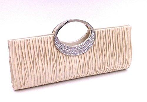 DAYAN Maniglia nuovo hardware con strass borse moda classica piega,albicocca