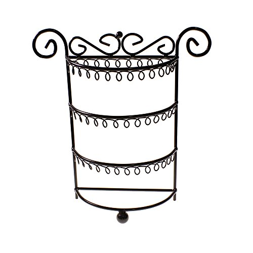 Stunning Black Jewellery Display Stand Holder Organiser For Necklaces, Bracelets, Earrings By Kurtzy Tm front-415071