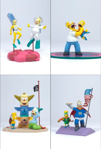 Picture of McFarlane Simpsons Series 1 Action Figure Set of 4 (B000OSYAW2) (McFarlane Action Figures)