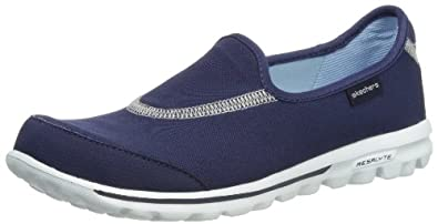 Skechers Go Walk, Women Slip On, Blue (Nvy), 2 UK (35 EU)