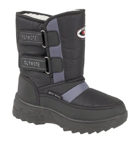 Children's Fleece Lined Snow Boots Size UK 12.5 Eu 31 (Black)