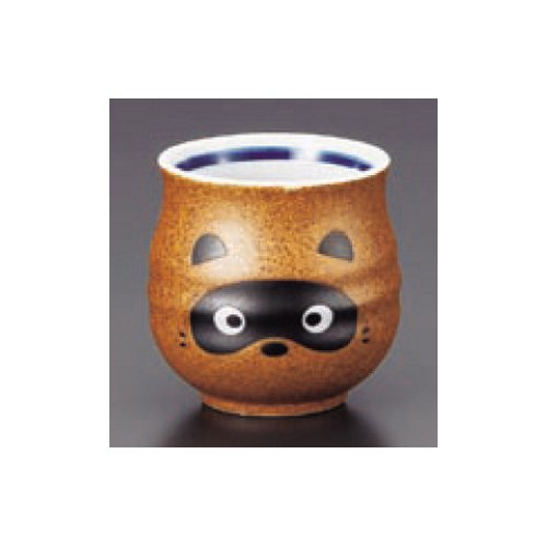 teacup kbu512-24-572 [3.55 x 3.35 inch] Japanese tabletop kitchen dish Sushi teacup Shigaraki Raccoon Fu type sushi teacup [9 x 8.5cm] inn restaurant tableware restaurant business kbu512-24-572