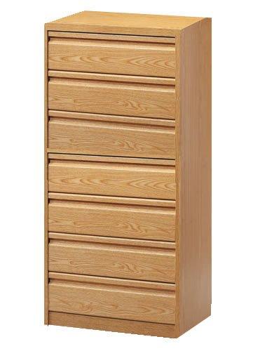 Cajoneras de madera - Cajonera para armarios modelo Postformado en formato de 7 cajones y una altura total de 122,7 cm (su zocalo inferior es de 5,7 cm) , ( cajonera disponible en varias medidas y colores) ,son cajoneras de madera duraderas y muy robustas