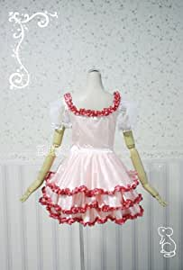 Chobits Chii Cosplay sweet pink lolita home maid cotton Dress