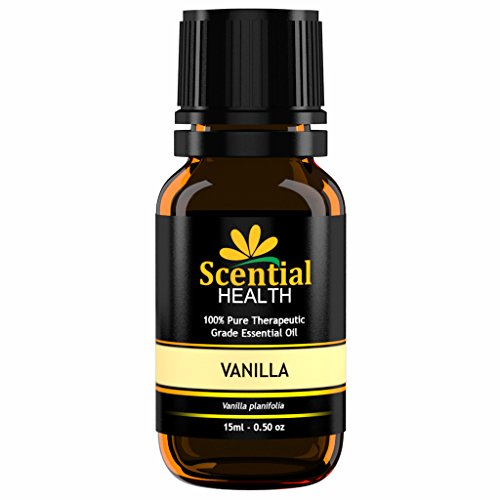 Vanilla Essential Oil BIG 15ml (.5oz) By Scential Health - 100% Certified Pure Therapeutic Grade Essential Oil With No Fillers, Bases, Additives OR Carrier Oils