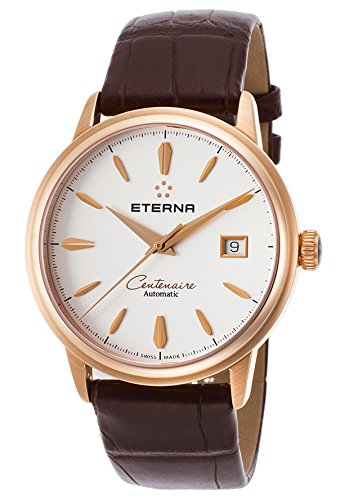 Eterna-Secondo le donne s Centenaire 40 mm, in pelle, colore: marrone coccodrillo automatico 2960,69.11,1272-Orologio analogico