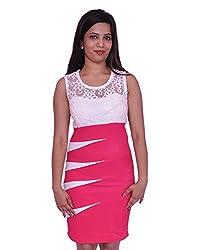Jevaraz Women's Dress (Pink, L)