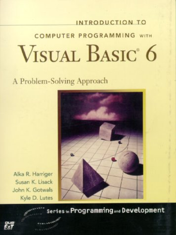 Introduction to Computer Programming with Visual Basic 6...