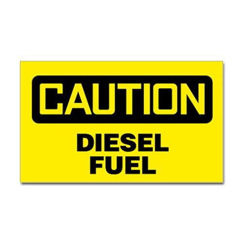 Cafepress Caution: Diesel Fuel Sticker Sticker Rectangle - 3X5 White