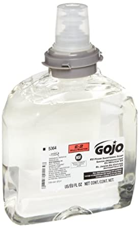 GOJO 5364-02 TFX E2 Foam Sanitizing Soap, 1200 mL (Case of 2)