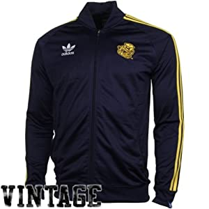 Adidas Michigan Wolverines Warm up Jacket Throwback Logo by adidas
