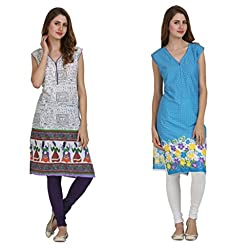 Miavii Women's Cotton Kurti Combo