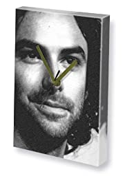 AIDAN TURNER - Canvas Clock (A4 - Signed by the Artist) #js004